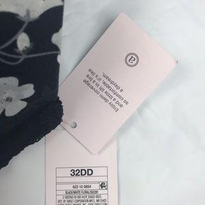 Auden Intimates & Sleepwear - Black Floral Light Lift Lace Demi T-Shirt Bra